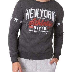 Sötétszürke férfi pulóver new york✅ - Basic