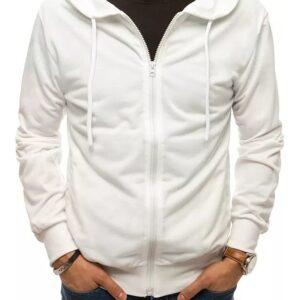 Fehér alapú pulóver cipzárral✅ - Basic