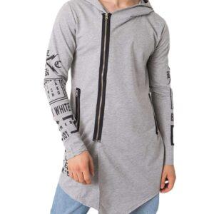 Világosszürke pulóver
