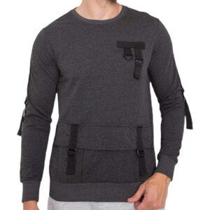 Sötét szürke pulóver