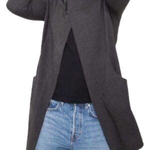 Sötétszürke pulóver ingyenes rögzítéssel✅ - Basic