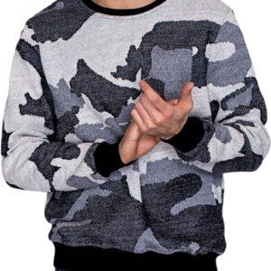 szürke pulóver álcázott mintával✅ - MECHANICH