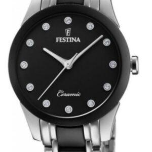 Női karóra Festina Ceramic 20499/3 - A számlap színe: fekete