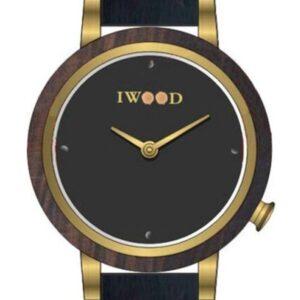 Női karóra Iwood Real Wood IW18443001 - A számlap színe: fekete