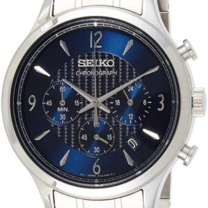Női karóra Seiko Chronograph SSB339P1 - A számlap színe: kék