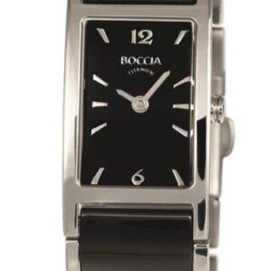 Női karóra Boccia Titanium Ceramic 3201-02 - A számlap színe: fekete