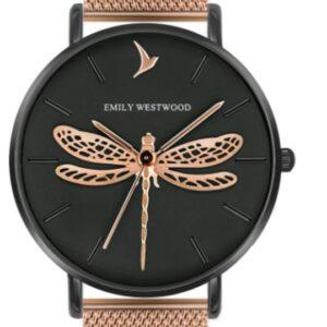 Női karóra Emily Westwood Dragonfly EBS-3218 - A számlap színe: fekete