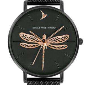 Női karóra Emily Westwood Dragonfly EBS-3318 - A számlap színe: fekete