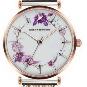 Női karóra Emily Westwood Flower Wreath EBH-2718 - A számlap színe: fehér