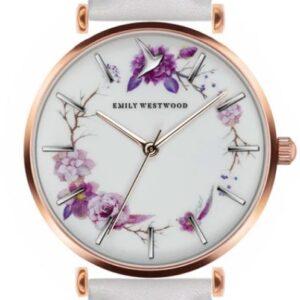 Női karóra Emily Westwood Flower Wreath EBH-B018R - A számlap színe: fehér
