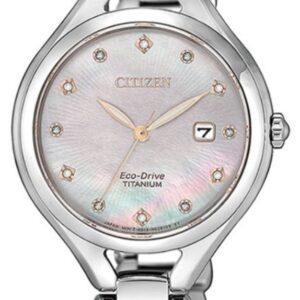 Női karóra Citizen Super Titanium EW2560-86Y - A számlap színe: gyöngyház