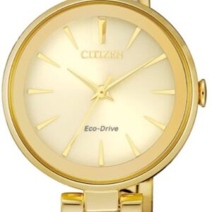Női karóra Citizen Dress EM0632-81P - A számlap színe: arany