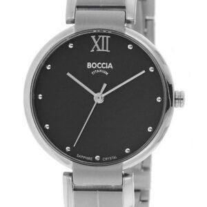 Női karóra Boccia Titanium Superslim 3313-01 - A számlap színe: fekete