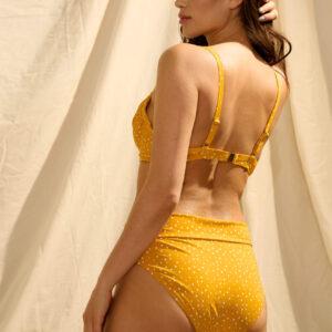 Merevítős pöttyös bikini felső ORSAY