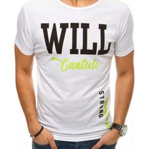 Fehér férfi póló akarat felirattal✅ - Basic