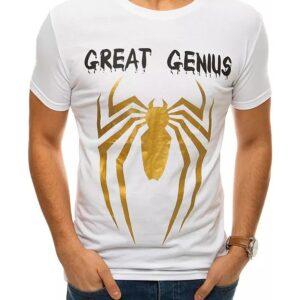 Fehér férfi póló pók nyomtatással✅ - Basic