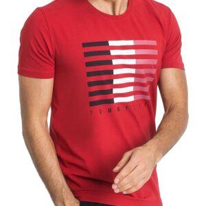 Tommy life piros férfi póló nyomtatással✅ - TOMMY LIFE