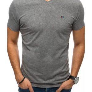 szürke férfi póló nyomtatás nélkül✅ - Basic