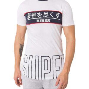 Fehér férfi póló nyomtatással✅ - Basic