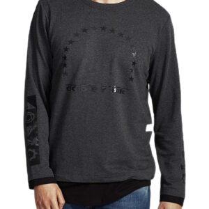 szürke-fekete póló nyomtatással✅ - MECHANICH