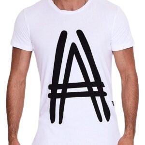 Fehér férfi póló nyomtatással és✅ - MECHANICH