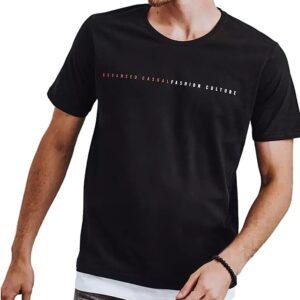 fekete póló fehér szegéllyel✅ - Basic