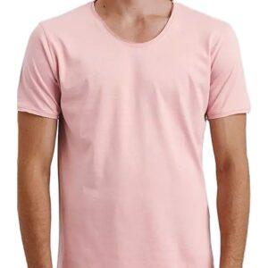 Világos rózsaszín férfi póló✅ - Basic