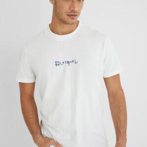 Desigual fehér férfi póló Surf Collage logóval - XXL - Desigual✅