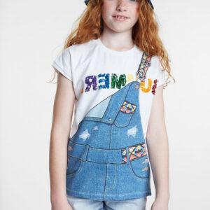 Desigual fehér lány póló TS Leicester - 5/6 - Desigual✅