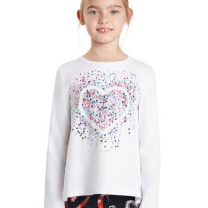 Desigual fehér lányos póló Core - 134-140 - Desigual✅