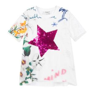 Desigual fehér lányos póló TS Amparo - 9/10 - Desigual✅