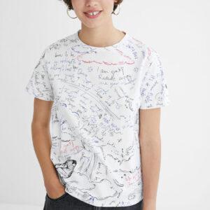 Desigual fehér póló Elizabeth Fry - XL - Desigual✅