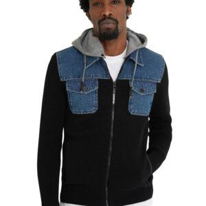 Desigual fekete férfi pulóver Anthony - XXL - Desigual✅