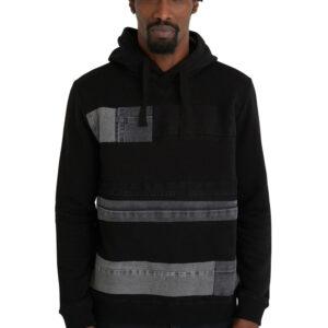 Desigual fekete férfi pulóver Jay kapucnival  - XXL - Desigual✅