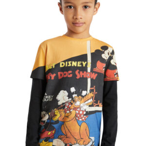 Desigual fekete fiús póló Mickey&Pluto - 134-140 - Desigual✅