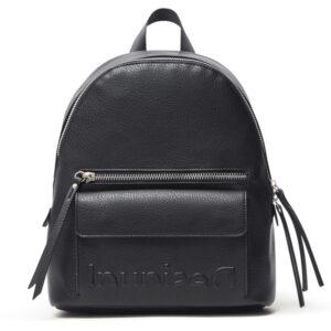 Desigual fekete hátizsák Embossed Half Mombasa Mini - Desigual✅