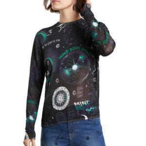 Desigual fekete könnyű pulóver Toronto - XS - Desigual✅