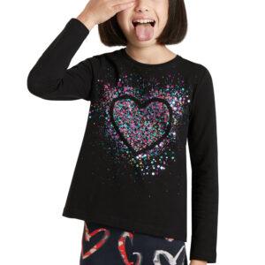 Desigual fekete lányos póló Core - 134-140 - Desigual✅