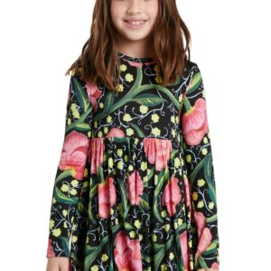 Desigual fekete lányos ruha Opala - 134-140 - Desigual✅