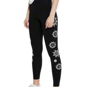 Desigual fekete leggings Legging Mandala Swiss Embro - S - Desigual✅