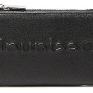 Desigual fekete pénztárca Embossed Half Emma - Desigual✅