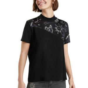 Desigual fekete póló Grace Hopper - XL - Desigual✅