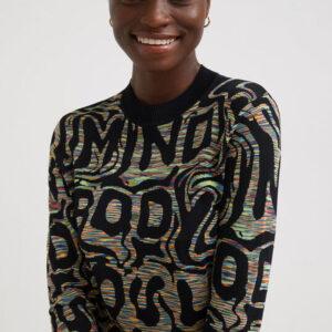 Desigual fekete pulóver Estrasburgo - XS - Desigual✅