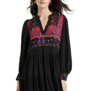 Desigual fekete ruha Solsona - XL - Desigual✅