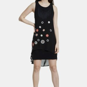 Desigual fekete ruha - XL - Desigual✅