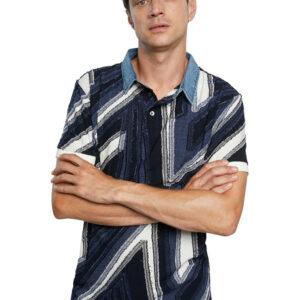 Desigual kék férfi ing Polo Vincent - XL - Desigual✅