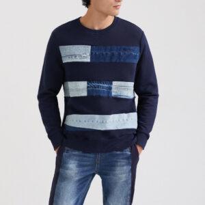 Desigual kék férfi pulóver Fede - XXL - Desigual✅