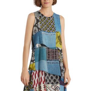 Desigual kék mintás ruha Alejandria - XL - Desigual✅