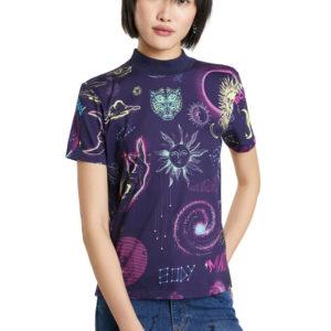 Desigual lila póló Cosmos - XL - Desigual✅