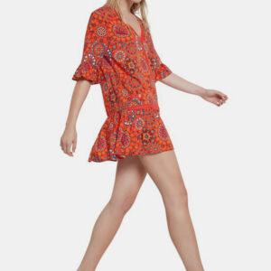 Desigual Nôi nyári ruhák piros - XL - Desigual✅
